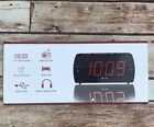 "DreamSky Large Alarm Clock FM Radio USB Port for Charging 1.8"" LED Earphone Jack"