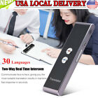Two-Way Portable Smart Translator Professional 30 Languages Translation Device
