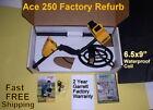 "Garrett Ace 250 Refurb Metal Detector with 6.5x9"" Waterproof Coil Free Shipping"