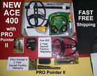 New 2018 Garrett Ace 400 Metal Detector with PRO Pointer II  Fast Free Shipping