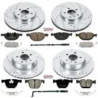 Power Stop K6010 High Performance Brake Upgrade Kit Cross-Drilled and Slotted Ro