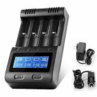 LCD Display Speedy Universal Battery Charger with Car Adapter Zanflare C4 Sma...