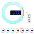 12 inches Digital LED Wall Mirror Temperture Alarm Clock USB Operated Y0N2