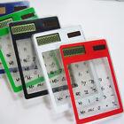 Cute Ultra-thin Solar Energy Pocket 8 Digit Calculator School Office Gadget