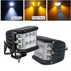 """2x 4"""" INCH Dual Color 45W Work Spot Beam Light Side Shooter Pods Combo Lamps Kit"""