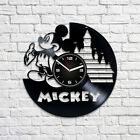 Mickey Mouse Disney Carton Retro Vinyl Record Wall Clock New Year Gift For Kids