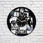 Retro Wall Clock Xmas gift For Men Vintage Vinyl Record Basketball Sport NBA Art