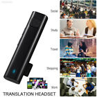 0F0F Travel Smart Language Translator Voice Instant 26 Language Bluetooth Black