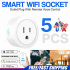 5PCS Wifi Smart Plug Remote Control Outlet Socket Works with Alexa&Google Home