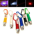 NT Mini 3 In 1 Laser Pointer Pen LED Light Kid Cats Toy Money Detector Keychain