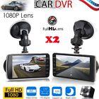 2 X 4 inch 1080P Car DVR Dual Dash Camrea Video Recorder Dash Cam G-Sensor BE