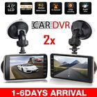 "2 PCS 4"" 1080P Car DVR Dual Dash Camrea  Recorder Night Vision G-Sensor BE"