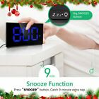 Mpow LED Digital Alarm Clock Curved Screen 3.75'' Large Display Clocks Kids Gift
