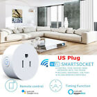 Mini WiFi Smart US Plug Power Socket Timer Outlet Remote Control Fr Alexa Google