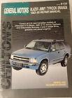 Chilton's General Motors Blazer Jimmy Typhoon Bravada 1983-95 Repair Manual