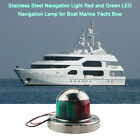Marine Bow Light 12V Stainless Steel Red and Green LED Navigation Light 1P A6A3