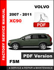 VOLVO XC90 2007 2008 2009 2010 2011 FACTORY SERVICE REPAIR WORKSHOP MANUAL