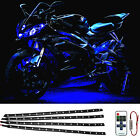 """4X Blue 15LED/12"""" DC12V Flexible Light Strip for Car Boat Truck DRL With Control"""
