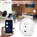 Muti-function Smart Socket Night Light Intelligent Socket Alexa Google Assistant