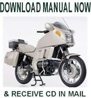 1983-96 BMW K100LT / K75 factory repair service manual on CD