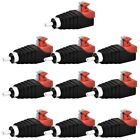 10pcs Terminal Cable to Audio Male RCA Adapter Power Jack Plug Connector