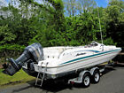 1999 Hurricane 23ft Deck Boat with Trailer Nice!