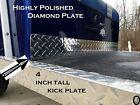Club Car DS Golf Cart Polished Aluminum Diamond Plate Kick Panel