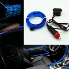 6.5ft Blue Cold Light Car Panel Neon Lamp Strip EL Wire Decorative Atmosphere