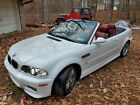 2002 BMW M3  2002 BMW M3 Convertible, White with red leather interior, SMG, Dinan upgrades