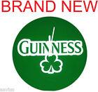 "Guinness SHAMROCK Logo 13.75"" Bar Pup Wall Clock Green Beer Officially Licensed"