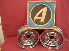 NOS Appliance Chrome Reverse Smooth Center Wheels 13 x 5 1/2