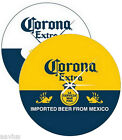 "Corona Extra Beer Bottle Label/Cerveza Pub Bar Sign 14"" Round Glass Wall Clock"