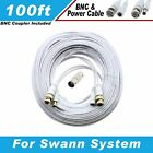 PREMIUM 100Ft HIGH QUALITY THICK BNC EXTENSION CABLES FOR SWANN SYSTEMS WHITE