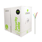 Security Wire Burglar Alarm 22/4 Cable 1000FT Solid White 1000' Speaker Cable