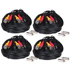 4 Pack 100ft Audio Video Power Cable CCTV DVR HD Security Camera Wire Cord WUU