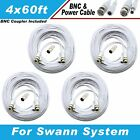 WHITE PREMIUM 240FT BNC CABLE FOR 24 CH SWANN 960H DVR SYSTEMS