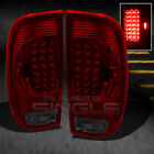 97-03 FORD F150 F250 PICKUP TRUCK RED SMOKE LED TAIL LIGHTS LAMP PAIR LEFT+RIGHT