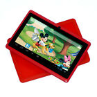 "New Dark Red 7"" Android 4.2 Tablet PC for Kids Children Bundle Red Silicone Case"