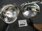 NEW SMALL 12 - VOLT CLEAR VINTAGE STYLE FOG LIGHTS WITH BO-TIE ON VISORS !