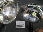 NEW SMALL OF 6 - VOLT CLEAR VINTAGE STYLE FOG LIGHTS WITH BO-TIE ON VISORS !