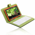 "iRulu 7"" Android 4.2 8GB Dual Core Tablet PC Orange w/ Green Gridding Keyboard"