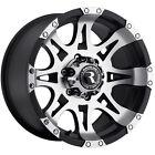 18x9 Machined Black Raceline Raptor 982 6x5.5 -6 Rims Open Country MT 275/70/18