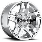 18x9 Chrome Fuel Pump D528 5x4.5 & 5x5 +1 Wheels Open Country AT II LT275/65R18