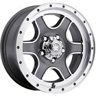 16x8 Gray Ultra Nomad 174 5x5 +10 Wheels General Grabber AT2 255/70/16 Tires