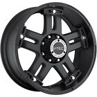 17x8.5 Matte Black V-Tec Warlord  5x5 -12 Wheels Terra Grappler LT305/70R17