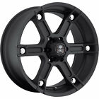 17x8.5 Black American Outlaw Plank 5x4.5 +10 Wheels Open Country AT II