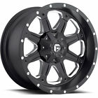 18x9 Black Fuel Boost 5x4.5 & 5x5 -12 Rims W/ Nitto NT555 295/45/18 Tires New