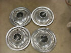 """Set of 4 Oldsmobile Cutlass 14"""" Stainless Wheel Covers Hubcaps w Black Center"""
