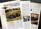 vintage LAGONDA (UK) Cars / Auto History Article / Photo's / Picture's