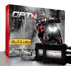 OPT7 Snowmobile HID Kit H4 9003 Bi-Xenon 10000K 10K Blue Headlight Light Bulbs
